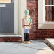 Noel the Christmas Nutcracker with Candy Cane - 3ft