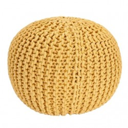 Knitted Pouffe-Cream