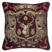 Regal Stag Cushion-Red