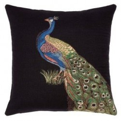 Peacock Tapestry Cushion-Right