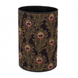 Peacock Feathers Tapestry Waste Bin