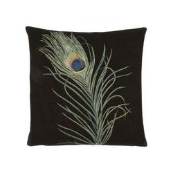 Peacock Plume Tapestry Cushion
