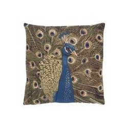 Peacock Tapestry Cushion