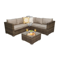 Dorchester Compact Corner Sofa With Coffee Table