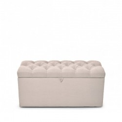 Burford End of Bed Ottoman - Buttoned - Putty