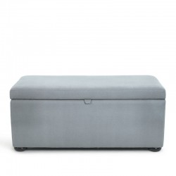 Burford End of Bed Ottoman - Buttoned - Dove Grey