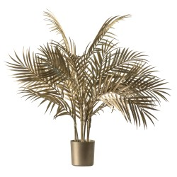 Boulevard Potted Palm Tree Champagne Gold