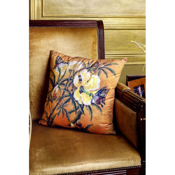 Lily & Butterfly Cushion
