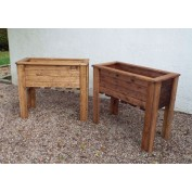 Premier Collection Tall Planter Set of Two
