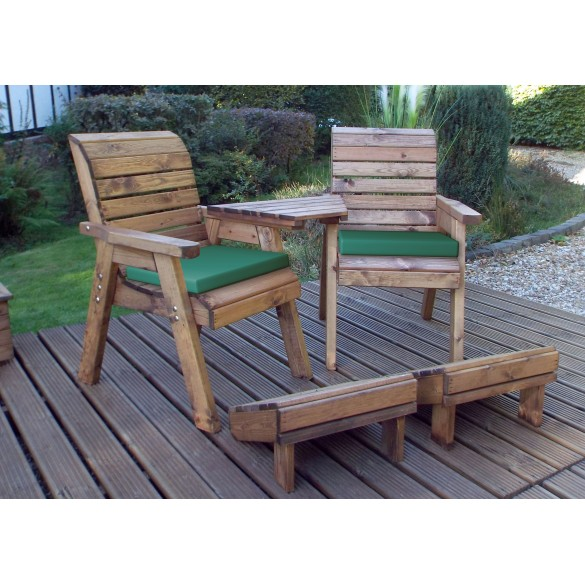 Premier Collection Twin Companion Set with Cushions and Footstools