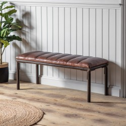 Tarnley Leather Bench