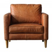 Churchill Vintage Brown Leather Chair