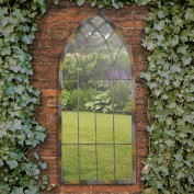 Theo rustic gothic design wall mirror
