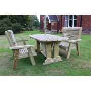 Selby 4 Seat Rectangular Table Set