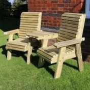 Selby 2 Seat Angled Love Seat