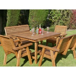 Harrogate Dining Set with Benches and Chairs