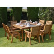 Harrogate Square Table and 8 Chairs