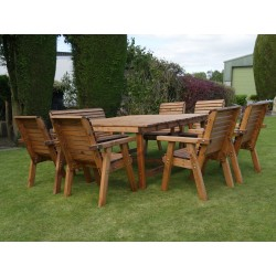 Harrogate Square Table 6 Chairs and one 2 Seat Bench