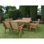 Harrogate Dining Table with 4 x 2 Seat Benches