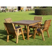 Harrogate Square Table and 4 Chairs