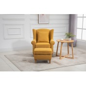 Motcomb Armchair and Footstool with Scatter Cushion