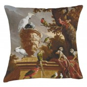 Museum Cushion - Parrot and Monkey