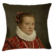 Museum Matt Velvet Cushion - Tudor Lady
