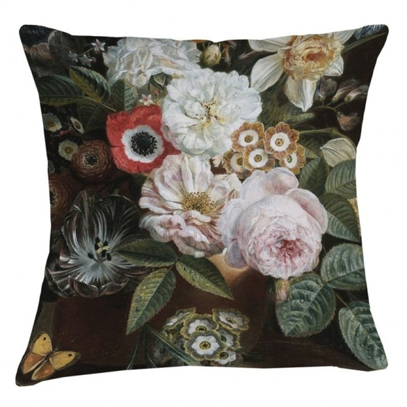 Museum Cushion - Rose Poppy
