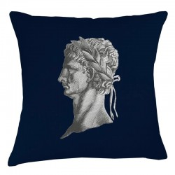 Roman Head Cushion - Navy