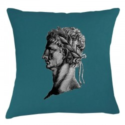 Roman Head Cushion - Teal