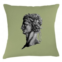 Roman Head Cushion - Olive