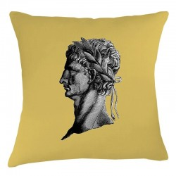 Roman Head Cushion - Ochre