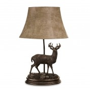 Stag Linen Table Lamp