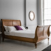 Geneva 5' High End Sleigh Bed