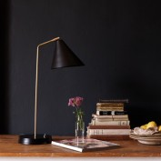 Drax Desk Light in Brass and a Black Hood