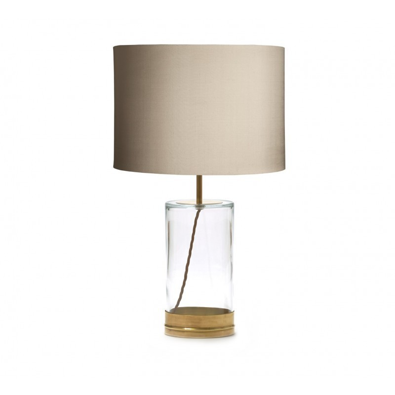 Regular wisteria table lamp in brass and clear glass alison at home regular wisteria table lamp in brass and clear glass aloadofball Gallery