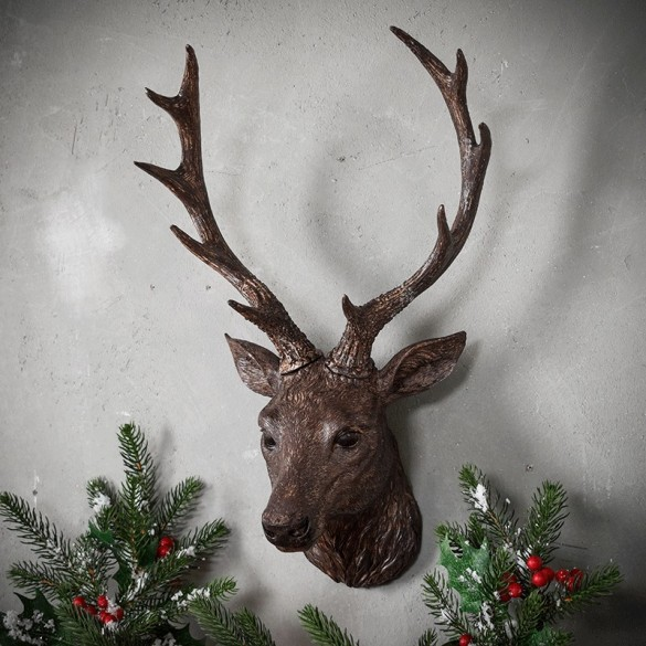 Ambrose Stag Head Bronze