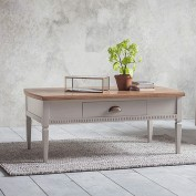 Bronte 1 Drawer Coffee Table Taupe
