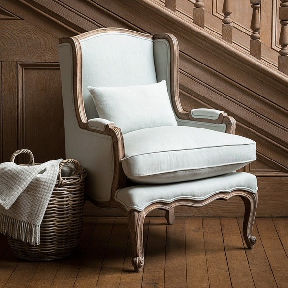 Louis French Armchair (Eau De Nil)