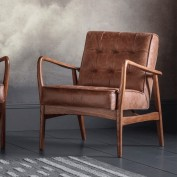 Humber Armchair Vintage Brown Leather