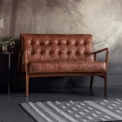 Humber 2 Seater Sofa Vintage Brown Leather