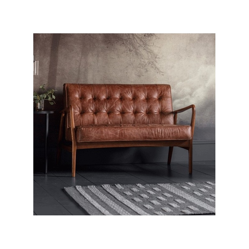 2 Seater Leather Sofa Brown: Humber 2 Seater Sofa Vintage Brown Leather