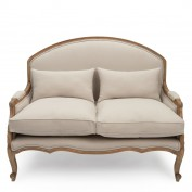 Estelle French Small Sofa (Putty)