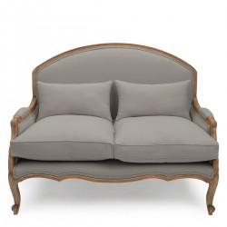 Estelle French Small Sofa (Dove Grey)