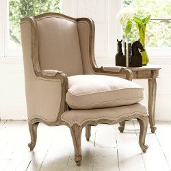 Louis French Armchair (Putty)