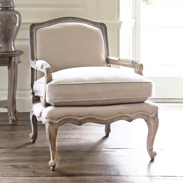 Rochelle French Armchair (Putty)