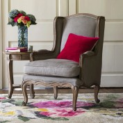 Louis French Armchair (Dove Grey)