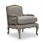 Rochelle French Armchair (Dove Grey)