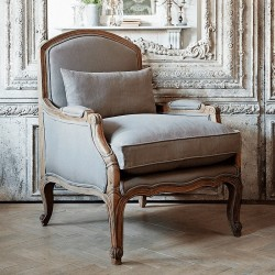 Chantelle French Armchair (Dove Grey)