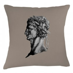 Roman Head Cushion - Taupe